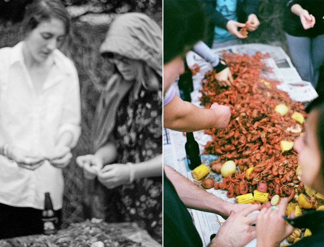 St. Patty's Day Crawfish Boil, New Orleans | Caroline Goddard Photography (Photo on left by Charlotte Strode) | Hope State Style