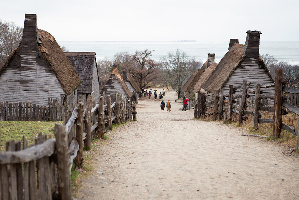 The 17th Century English Village At Plimoth Plantation