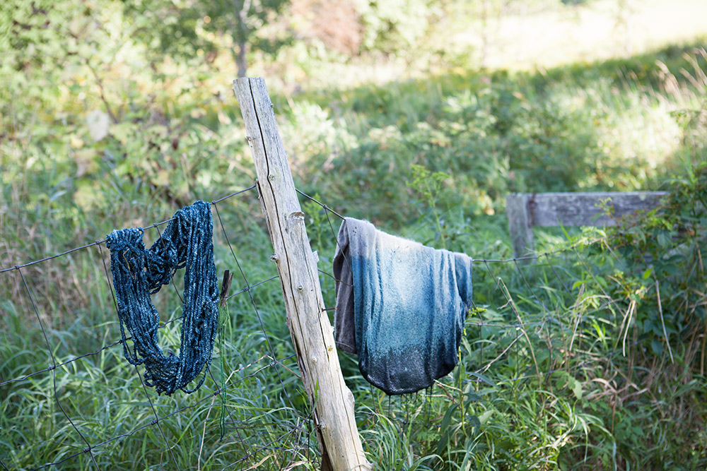 The Colors We Forgot We Had   Natural Wool Dyes from Vermont Gardens, Meadows, & Hedgerows - A Workshop at the Marshfield School of Weaving   Caroline Goddard Photography   Hope State Style